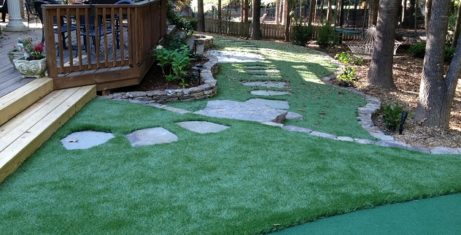 Synthetic Grass Built Into Your Landscape